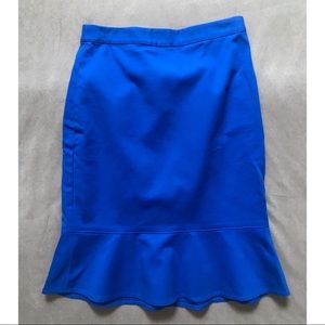 Club Monaco Electric Pencil Skirt Peplum Flounce